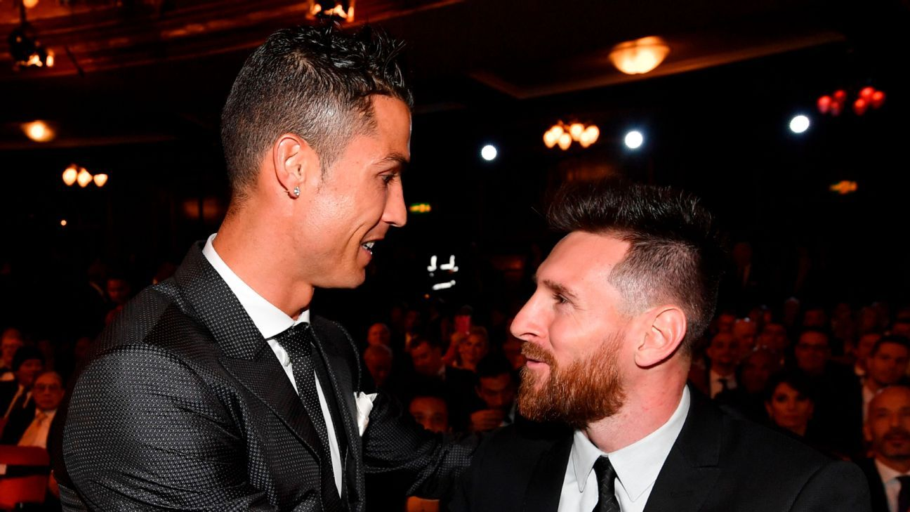 messi-and-ronaldo-rivalry-resumes-as-mbappe-salah-neymar-and-mane-join-stars-vying-for-top-prize